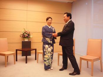 野田総理と東北の女将たちがお会いしました!