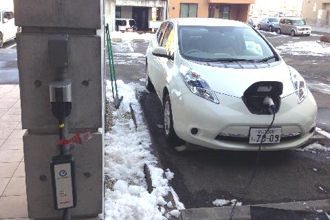 EV充電スタンド設置!