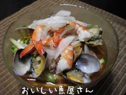 あさりのキムチ素麺
