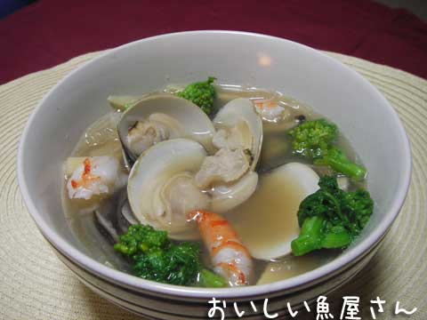 旨味たっぷり♥ 【はまぐりの中華スープ】