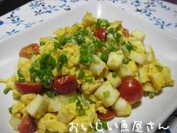 はんぺんとトマトの卵炒め