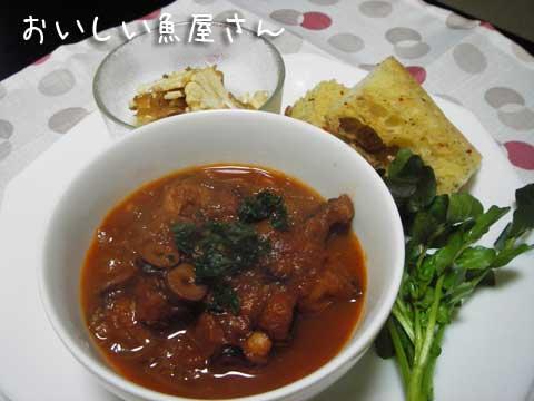 再び頂き物レシピ【たこのトマト煮】