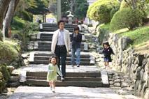 塩釜で家族写真♪