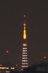 今日の東京タワーのダイヤモンドヴェール