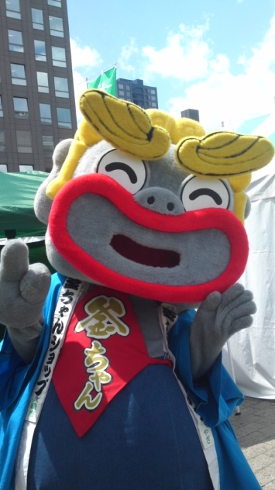 古川八百屋市・大崎ふれあい市でのむすび丸(提供はるちゃん様)