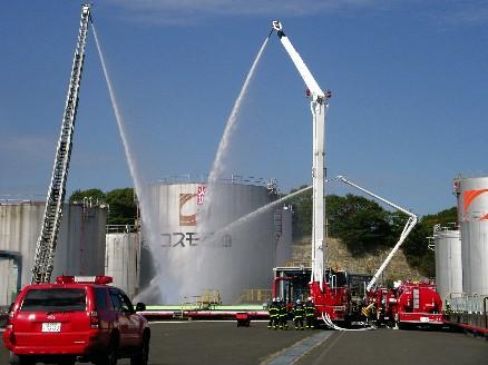 タンク火災訓練