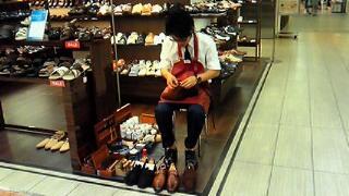 「靴のお手入れ実演&リペア相談会」開催中です!