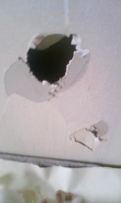 壁穴 クロス補修 張り替え