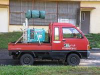赤い軽トラック!
