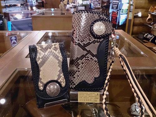 ダイヤモンドパイソン ロングウォレットA-2&スマートフォンケース