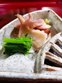 つぼみ菜と貝類①