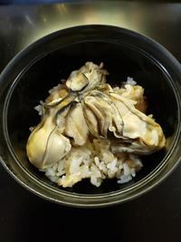 「牡蛎と牛蒡の炊き込み御飯」