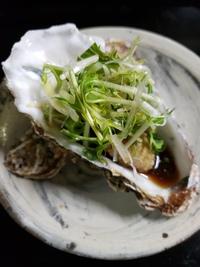 殻付き牡蠣と露地水菜!