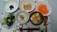 仙台麸の味噌汁 vs 仙台麸入りハンバーク゛