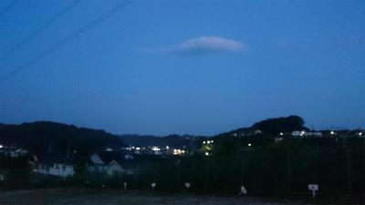 24日の朝の散歩:月齢28.3ほそーい