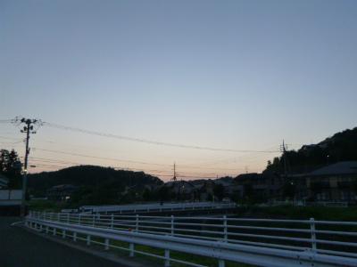 21日朝夕の散歩