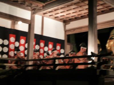 夜の塩竈神社:雅楽舞
