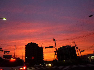 先日の夕焼け