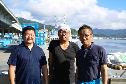 気仙沼魚市場での一枚