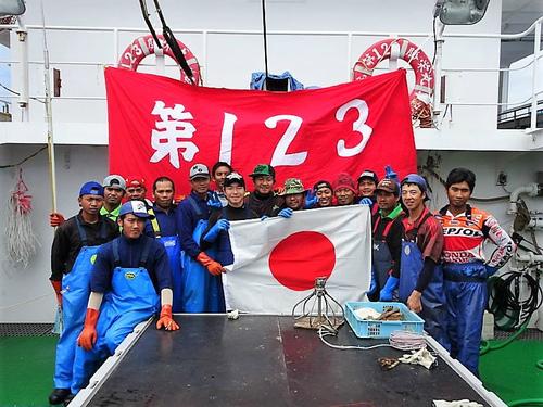 123勝栄丸での洋上成人式
