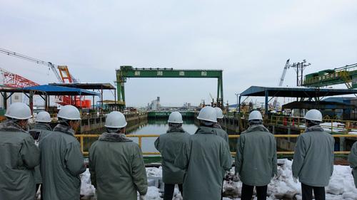 新潟造船での現地視察会