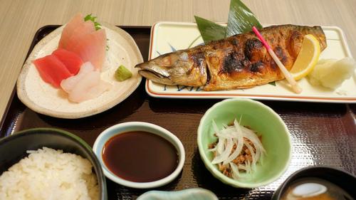 三陸沖のサバ焼き定食