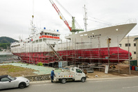 123勝栄丸が小鯖造船に上架