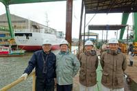 勝倉漁業の新造船が進水・浮上!