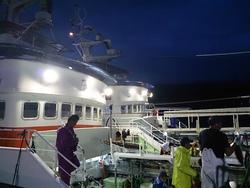 台風警戒の気仙沼港