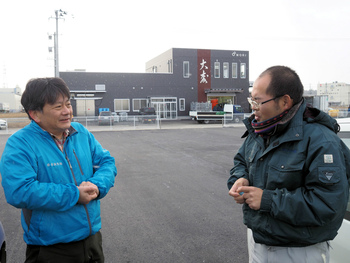 勝倉漁業の新倉庫・資材置場が完成