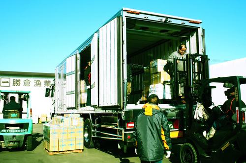 大西洋向けの漁具資材輸送