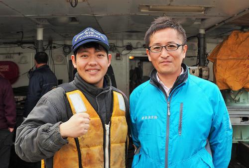 88勝栄丸の新人船員