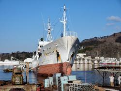 88勝栄丸が木戸浦造船に上架
