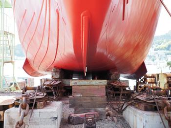 木戸浦造船から下架に