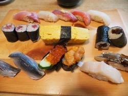 築地市場でお寿司ランチ