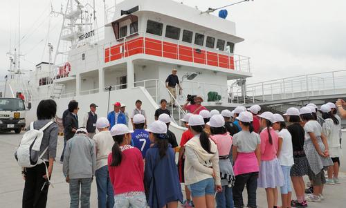 遠洋まぐろ船の見学会