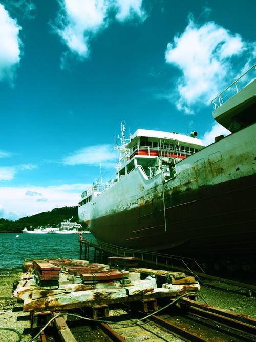 第7勝栄丸が小鯖造船に上架