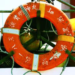 テレビ局の乗船取材
