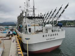新造船・第65欣栄丸さんが気仙沼に!