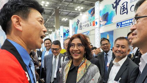 インドネシア共和国のスシ海洋水産大臣来たる!