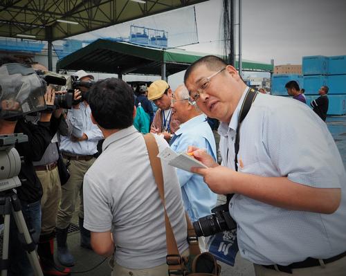 三陸新報に新人船員研修記事掲載