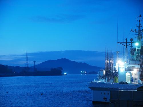 幻想的な気仙沼湾