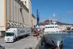 ラスパルマスでの港湾作業