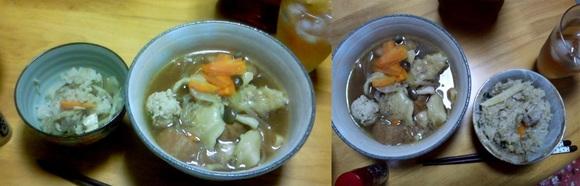 【レシピ番外編】 舞茸ご飯とはっと汁