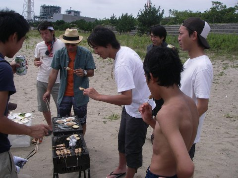 「UMIべQ」with野球部in七ヶ浜