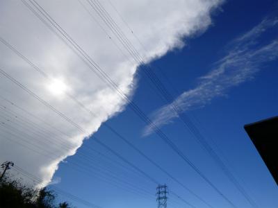 前線の雲?