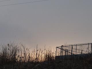 2月19日朝焼け:東勝山の公園へ