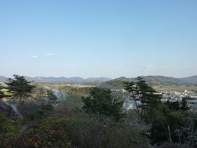 帰り道丸森百々石山公園
