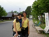I met girls from Singapore.