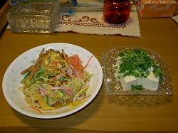 はなまるの料理(薬味と冷やし中華)作ってみました